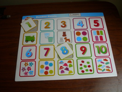 Cardboard number puzzle