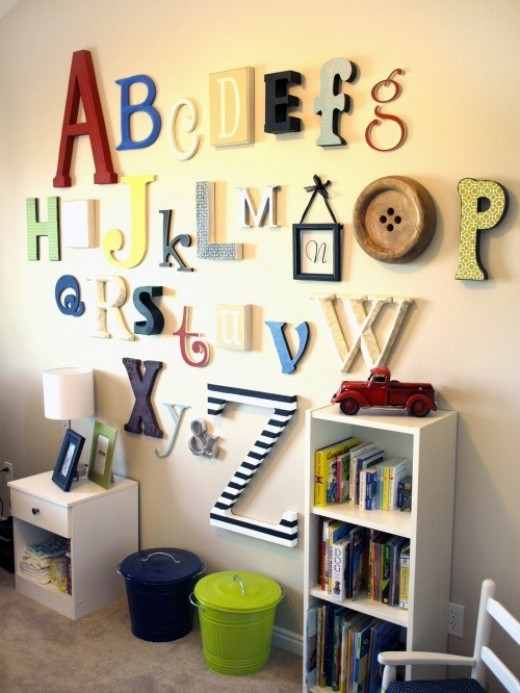 Alphabet wall decor