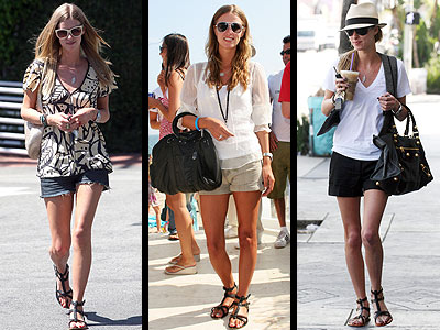 gladiator sandals are amazing with shorts