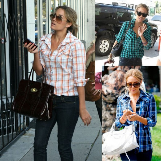Lauren Conrad looks amazing in plaids and jeans.