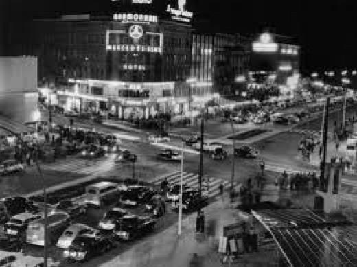 The Kurfuerstendamm at Night, West Berlin, West Germany, 1950s