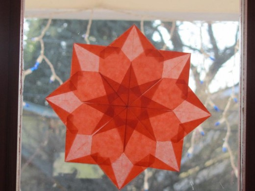 Amazing paper stars my cousins' family makes. This is but one of the really cool projects they do instead of watching TV.