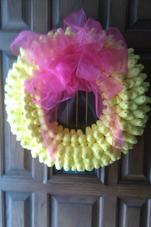 a peeps wreath! maybe start out with something a little less ambitious