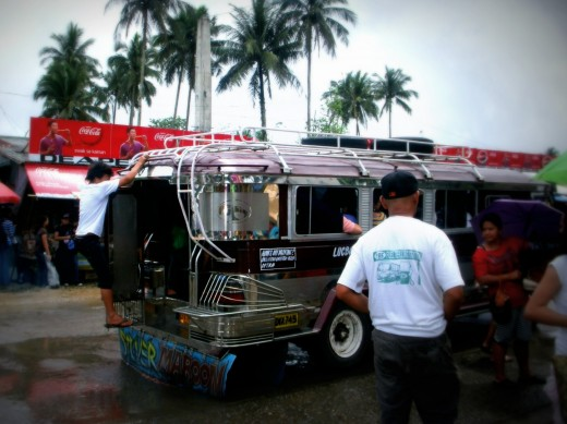 Example of a typical public jeepney in the Philippines. Photo was taken somewhere in Lucban, Quezon.