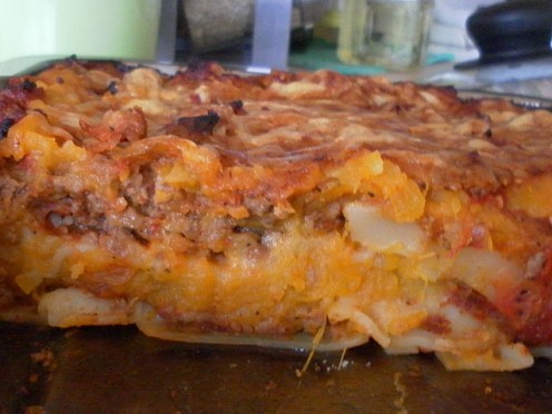 Pumpkin & Potato Lasagna