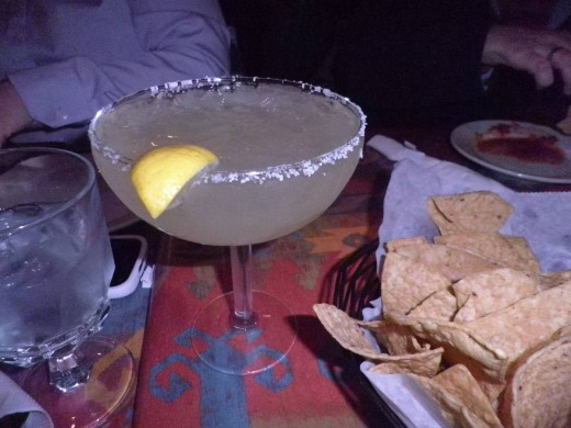 Yummy margarita- that I couldn't drink.