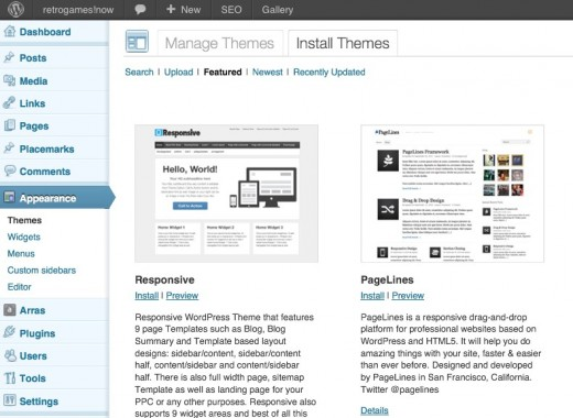 Wordpress Theme Chooser
