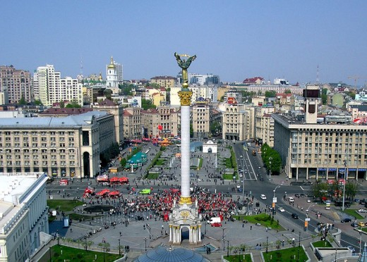 Kiev's main square, Independence Square