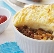 Veggie Shepherd's Pie (with lentils)