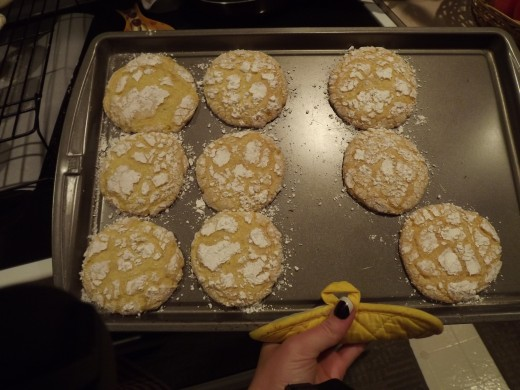 Cookies fresh from the oven