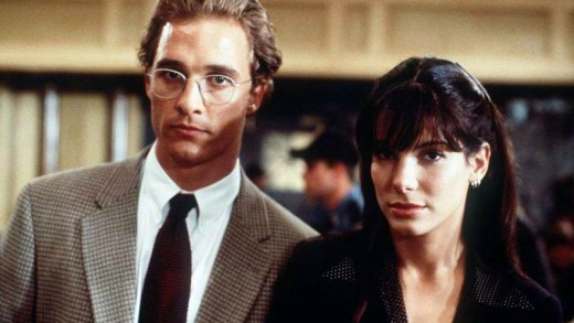 Matthew McConaughey and Sandra Bullock in A Time to Kill (1996)