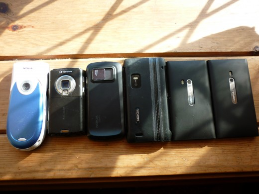 Six Nokia Phones