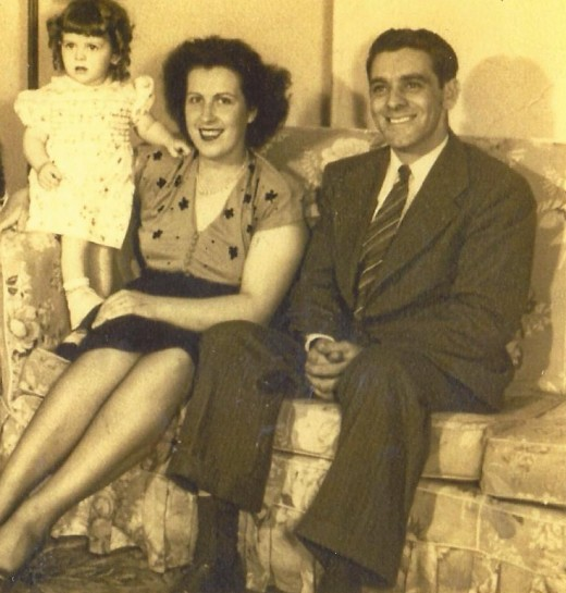 Me, mom and dad, Second Street, Lansingburgh, NY, 1948