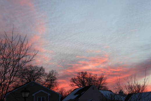 cold winter sky 1/22/11