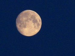 Taken in March of 2011, this photo shows an almost complete full Moon.