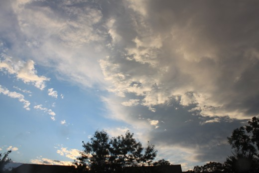storms moving out on an early fall night 9/29/11