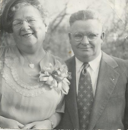 "My maternal grandmother and ""Grampy,"" 1950, Fourth Street, Lansingburgh, NY"