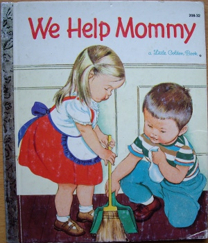 This Little Golden Book is often seen as sexist but it was typical for its time period.