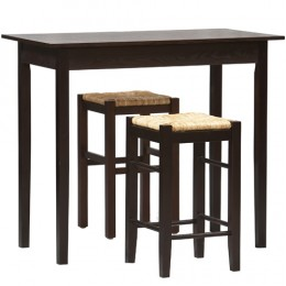 This dining set is not space-consuming..perfect for your first home!
