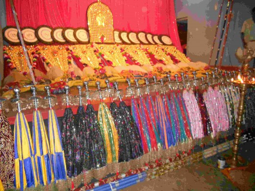 Elephant's Ornaments for the temple festival