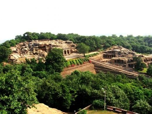 Udaygiri: Photograph taken from Khandgiri hill