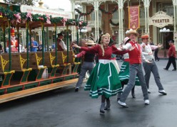 The Trolley Show that greeted us as we arrived at the Magic Kingdom