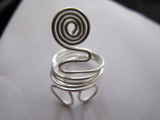 Spirals can also add to a unique-looking ring!