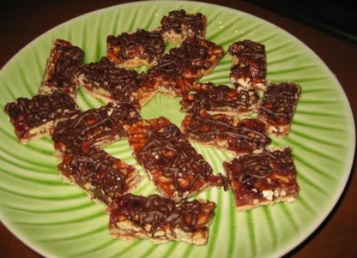 caramel cranberry squares the gourmetproject