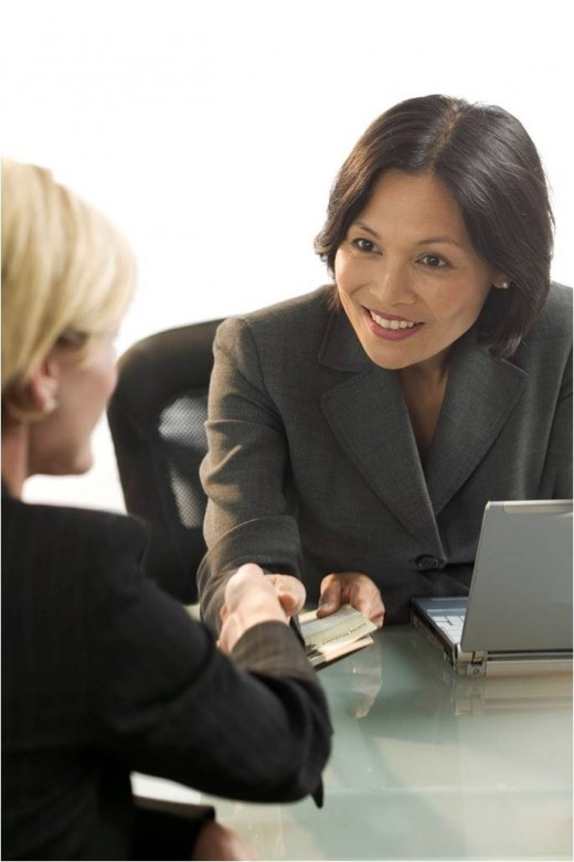 Take your behavioral cues from the person who is interviewing you.