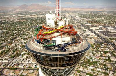 The rides at the top of the Stratosphere tower offer breathtaking views of Las Vegas.