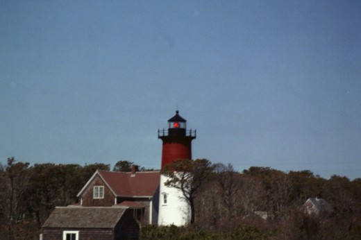 Vacation photo of a lighthouse at Cape Cod, Massachusetts during a vacation.