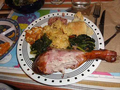 Smoked turkey makes this holiday plate even more delicious.