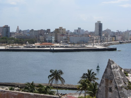 Havana, Cuba. New Havana across the harbour