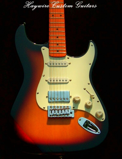 Haywire Custom Guitars Sunburst Fat Strat