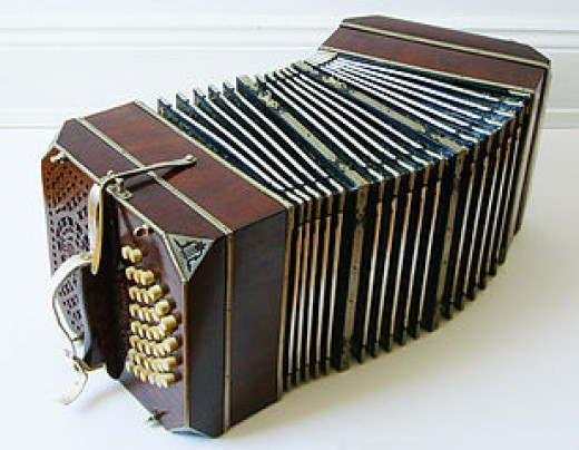 This Bandoneon was made by Hohner. So beautifully crafted!
