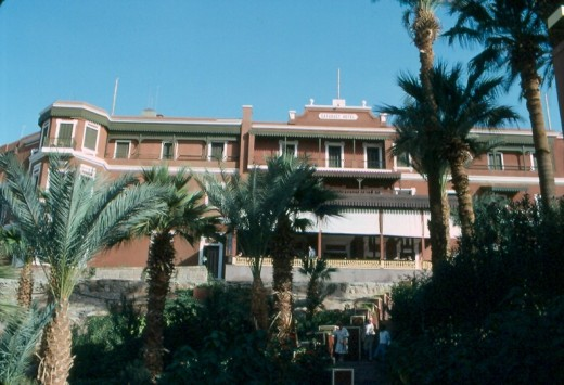 The famous Cataract Hotel, Aswan.