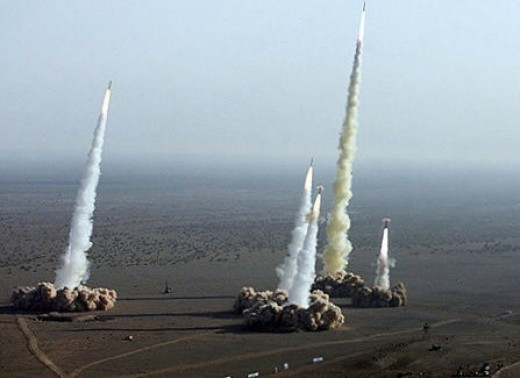 Iranian test missiles