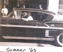 1958 Chevy Impala - photo taken in 1963 but the 58 Chevy is still a classic!