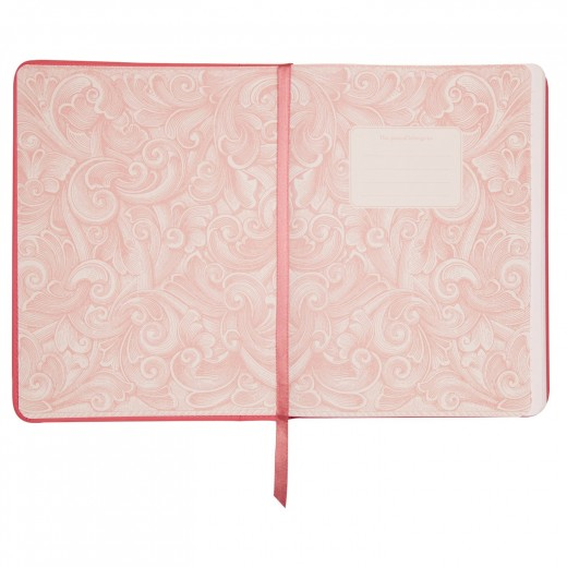 This journal is also in leather and features a lovely pink inside cover, with a nice cloth bookmark.