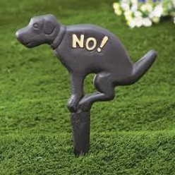How do I stop dogs from crapping on my lawn?