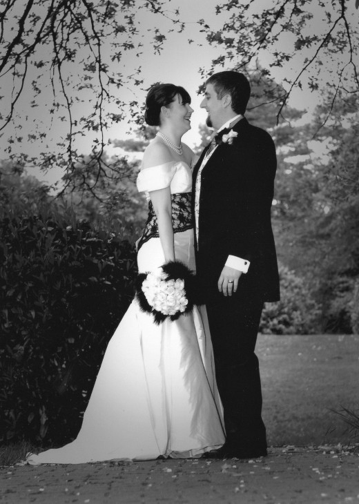 A picture of my black and white themed wedding