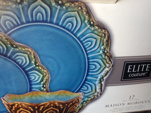 blue Moroccan dishes
