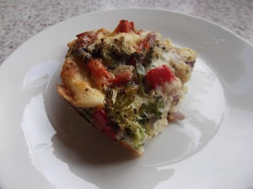 Vegetable oven baked omelette