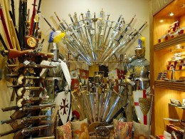 Toledo is famous for its handcrafted swords.