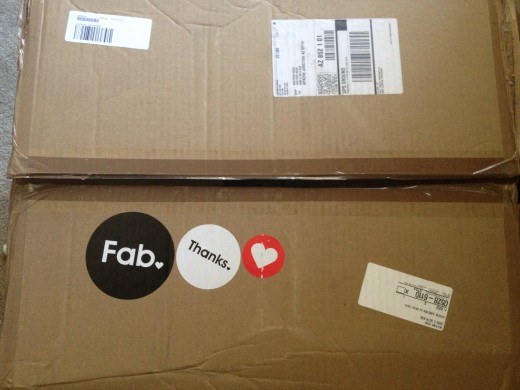 Who is to blame?  Fab?  UPS?  The box doesn't indicate it is fragile or contains glass.