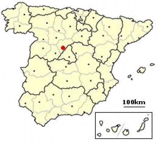 Segovia is located about 50 miles northwest of Madrid in Spain.