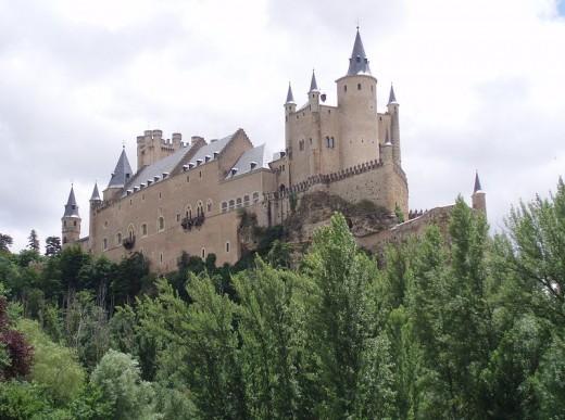 Alcazar (castle) in Segovia, Spain.