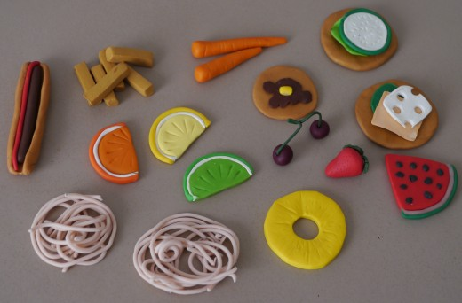 make fimo food for a fraction of the cost for the kids