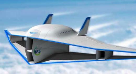 Futuristic sonic biplane.