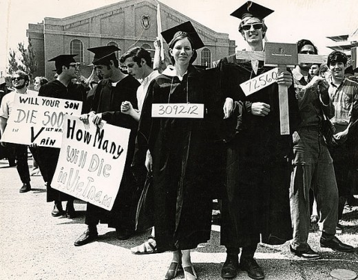 SPILLED OVER FROM THE STREETS INTO THE RANKS OF GRADUATING COLLEGE SENIORS IN 1969.